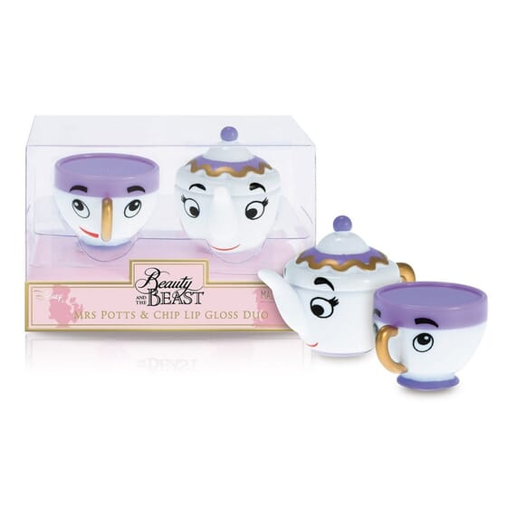 Disney Mrs Potts And Chip Lips Gloss Grape + Strawberry de Mad Beauty