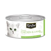 Comida Húmeda Pollo Con Cordero 80g 24 Uds de Kit Cat