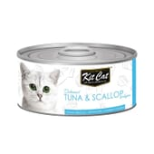 Comida Húmeda Atún Con Vieiras 80g 24 Uds de Kit Cat