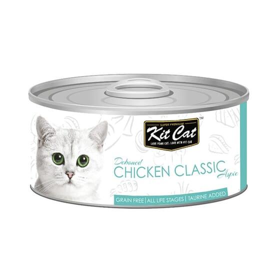 Comida Húmeda Pollo Classic 80g 24 Uds de Kit Cat