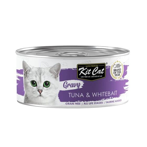 Comida Húmeda Gravy Atún Con Chanquetes En Salsa 70g de Kit Cat