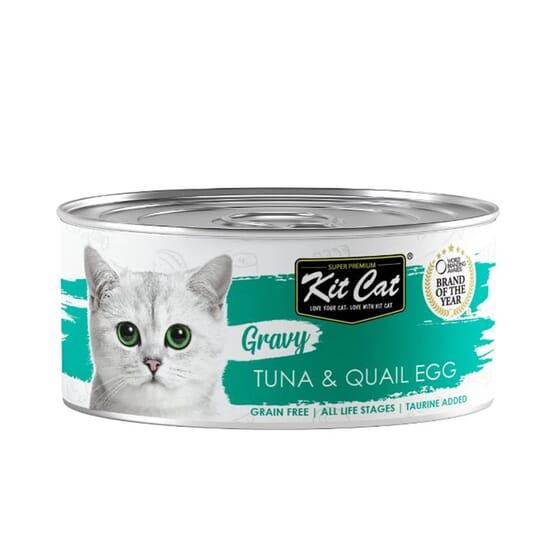 Comida Húmeda Gravy Atún Con Huevo De Codorniz En Salsa 70g 24 Uds de Kit Cat