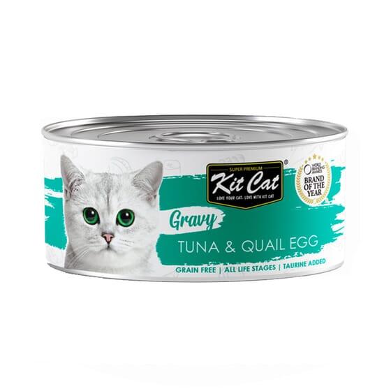 Comida Húmeda Gravy Atún Con Huevo De Codorniz En Salsa 70g de Kit Cat