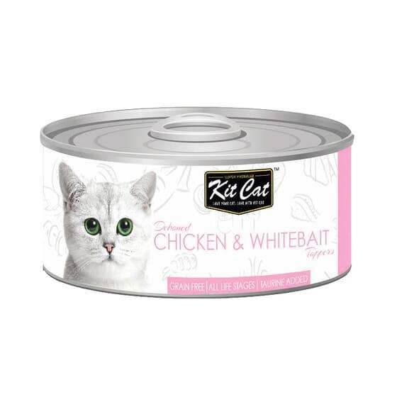 Comida Húmeda Gravy Pollo Con Chanquetes En Salsa 70g de Kit Cat