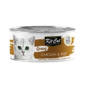 Comida Húmeda Gravy Pollo Con Ternera 70g de Kit Cat