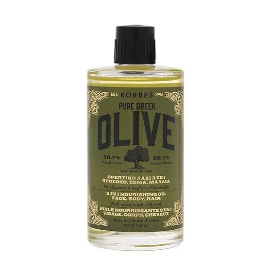 Pure Greek Olive Aceite Nutritivo 3 En 1 100 ml de Korres