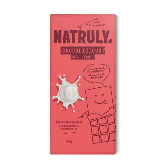 Tableta Chocolicious Con Leche Bio 85g de Natural Athlete