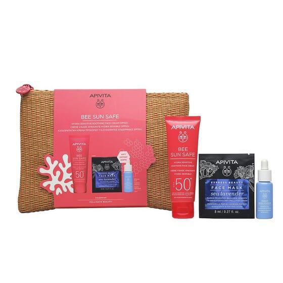 Pack Bee Sun Safe Sensitive SPF50 + Aqua Beelicious + Face Mask de Apivita