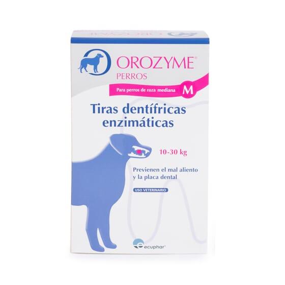Orozyne Tiras Dentífricas Enzimáticas Perro M 10-30 Kg 12 Uds de Ecuphar