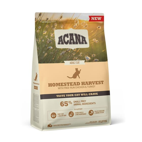 Pienso Gato Adulto Homestead Harvest 1.8 Kg de Acana