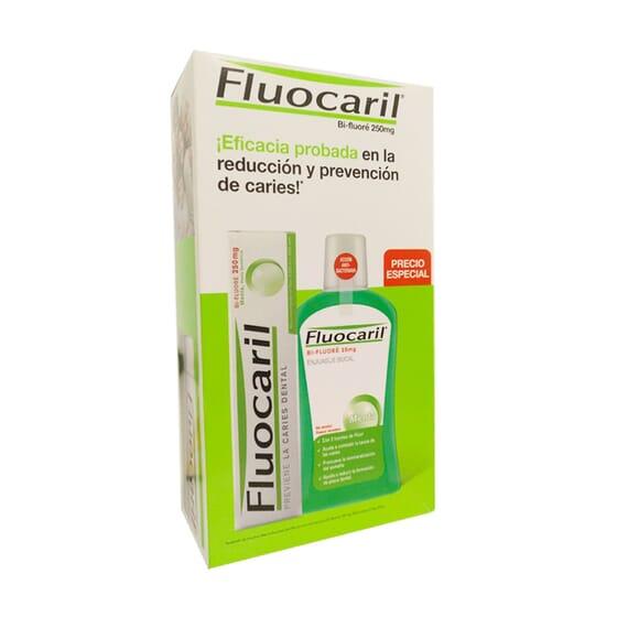 Pack Pasta Dentífrica Bi-Fluore 250 mg + Enjuague Bucal Menta de Fluocaril