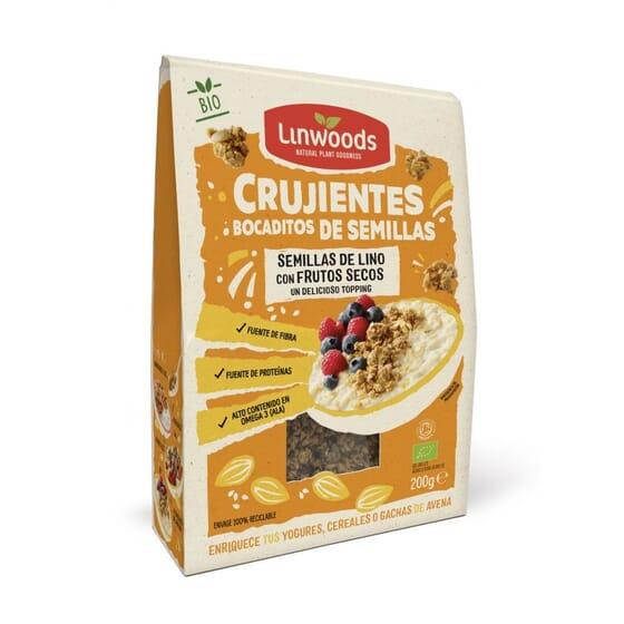 Crujientes Bocaditos Semillas De Lino Con Frutos Secos Bio 200g de Linwoods