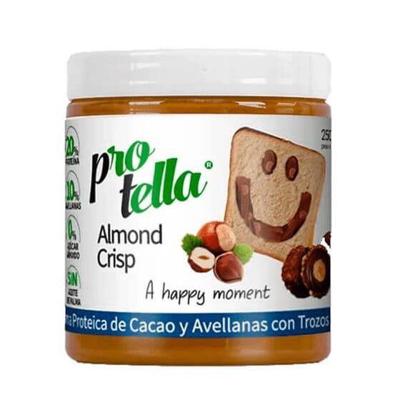 Crema Proteica Cacao Con Trozos De Almendras 250g de Protella