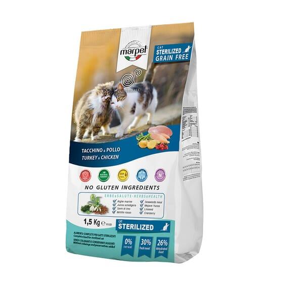 Equilibria Sterilized Gato Adulto Pavo Y Pollo 1.5 Kg de Marpet