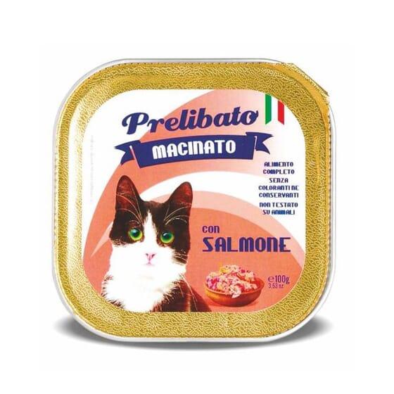 Prelibato Macinato Gato Salmón 100g de Unipro