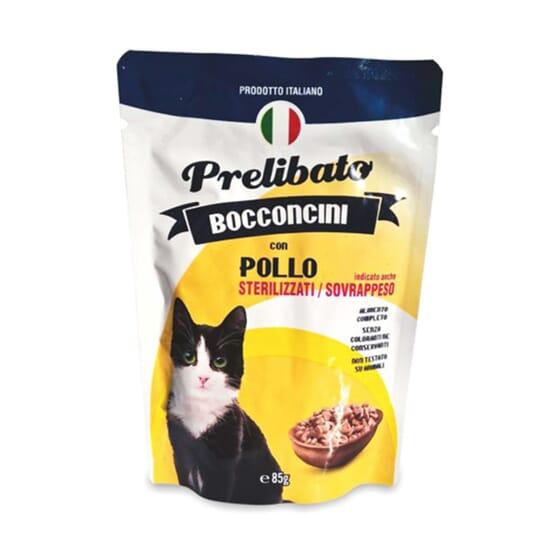 Prelibato Bocconcini Gatos Esterilizados Pollo 85g de Unipro