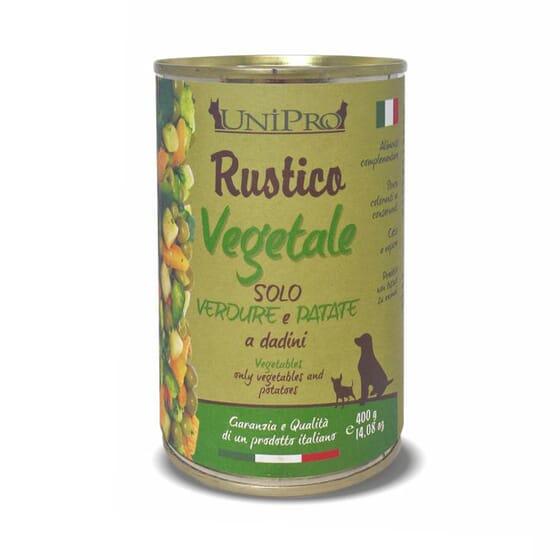 Rustico Vegetale Perro Adulto Verdura Y Patata 400g de Unipro