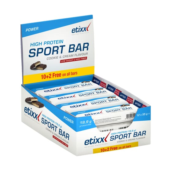 High Protien Sport Bar 55g 12 Barritas de Etixx