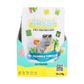 Aruba Cat Salmón Y Pavo Orgánicos Con Bok Choy Y Cúrcuma 70g 10 Uds de Aruba Pet Nutrition