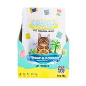 Aruba Cat Venado Y Pollo Orgánicos Con Arándanos Y Chía 70g 10 Uds de Aruba Pet Nutrition