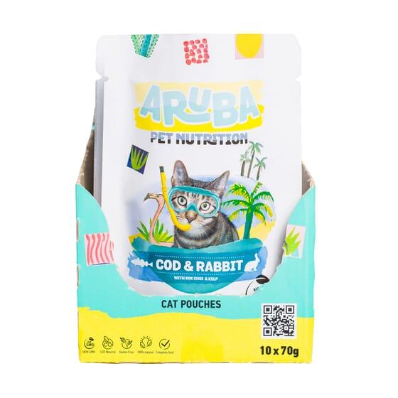 Aruba Cat Bacalao Y Conejo Con Bok Choy Y Algas 70g 10 Uds de Aruba Pet Nutrition