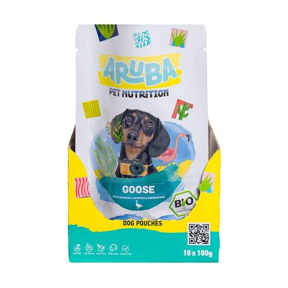 Aruba Dog Ganso Orgánico Brócoli Bayas Y Topinambur 100g 10 Uds de Aruba Pet Nutrition