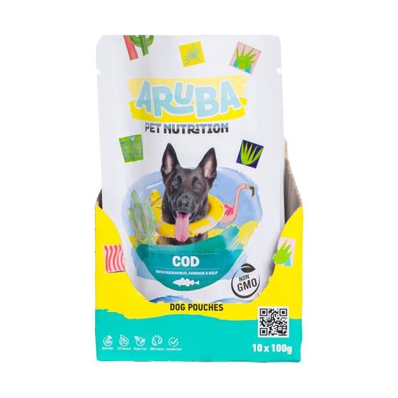 Aruba Dog Bacalao Trigo Sarraceno Repollo Y Algas Marinas 100g 10 Uds de Aruba Pet Nutrition
