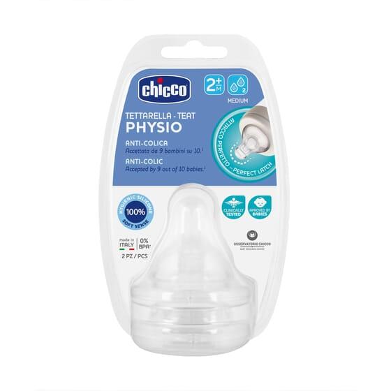 Tetina Physio 2M+ Anticolico 2 Uds de Chicco