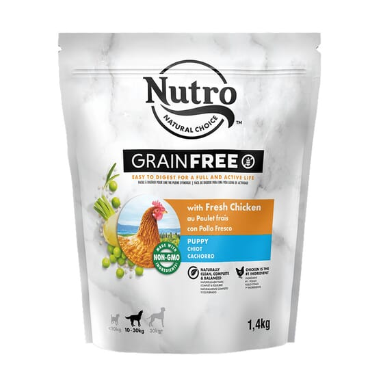 Grain Free Perro Cachorro Razas Medianas Pollo 1.4 Kg de Nutro