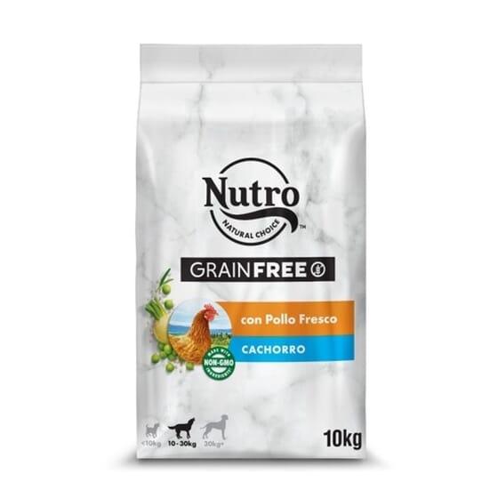 Grain Free Perro Cachorro Razas Medianas Pollo 10 Kg de Nutro
