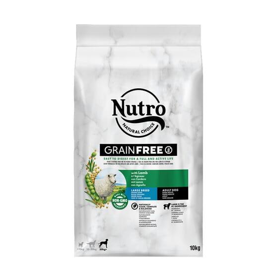 Grain Free Perro Adulto Razas Grandes Cordero 10 Kg de Nutro