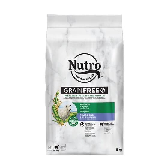 Grain Free Perro Senior Razas Medianas Cordero 10 Kg de Nutro
