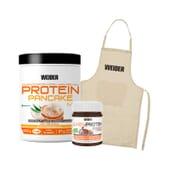 Protein Pancake Coco Choco + Whey Protein Choco Cream + Delantal de Weider