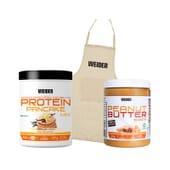 Protein Pancake Vainilla + Peanut Butter Smooth + Delantal de Weider