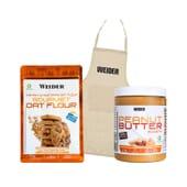 Oat Flour Cookie + Peanut Butter + Delantal de Weider