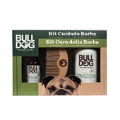 Coffret Bulldog Original Huile de Barbe + Shampooing Barbe + Peigne de Bulldog